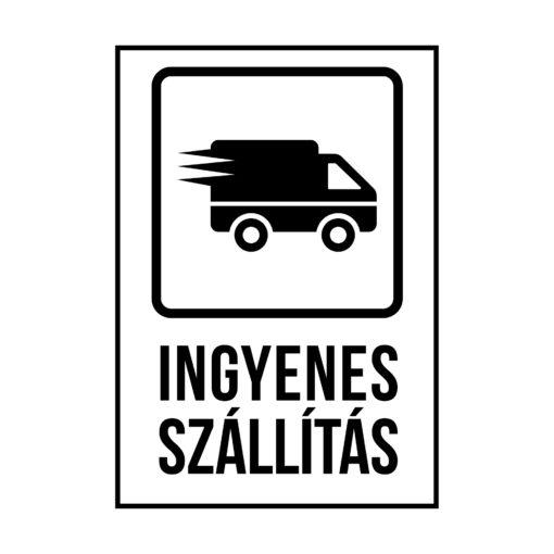 ingyenes szállítás, öntapadó címke, információs matrica, könyvet csomagolnék, elektronikai eszközt csomagolnék, címke nyomtatás