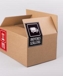 ingyenes szállítás matrica, doboz teteje matrica, papírdoboz, dobozgyártás, biztonsági címke, öntapadó matrica