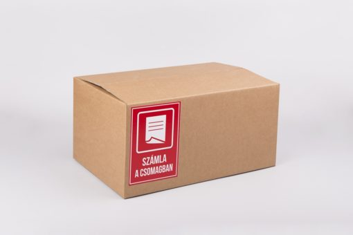 számla a csomagban matrica, biztonsági címke, öntapadó matrica, hullámkarton doboz, papírdoboz webáruház
