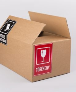 törékeny matrica, nehéz csomag matrica, öntapadó matrica, biztonsági címke, hullámpapír doboz ár, kartondoboz készítés, papírdoboz webshop