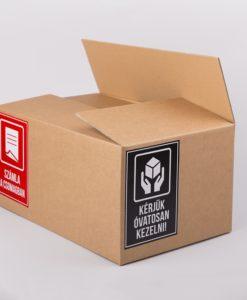 számla a csomagban matrica, óvatosan kezelni matrica, öntapadó matrica, biztonsági címke, kartondoboz, papírdoboz webáruház