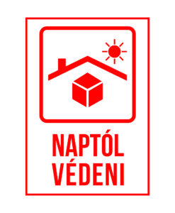 naptól védeni matrica, öntapadó címke, biztonsági matrica, címke nyomtatás