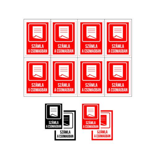 számla a csomagban matrica, öntapadó címke, információs matrica, biztonsági címke, terméket csomagolnék, öntapadó nyomtatás