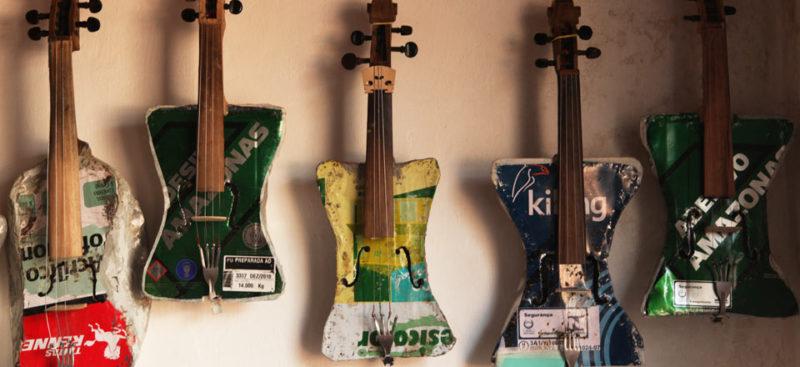millerpack csomagolóanyag blog, újrahasznosítás, zene, újrahasznosított hangszer