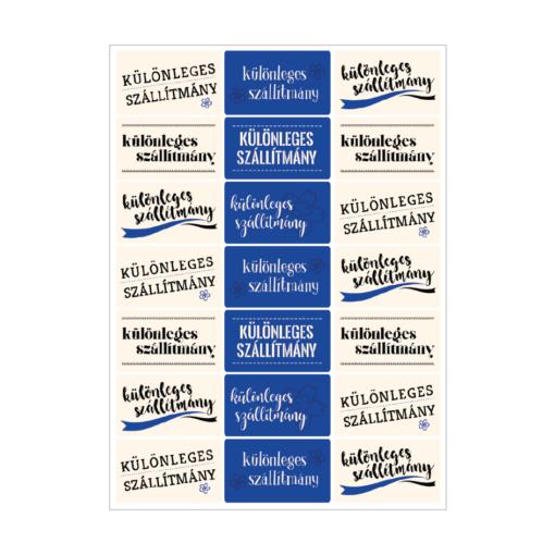 különleges szállítmány matrica, öntapadó, kommunikációs címke, csomagolóanyag gyártás
