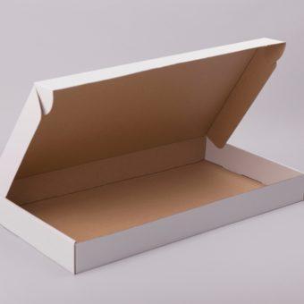 fehér kartondoboz, kartondoboz fehér, lapos papírdoboz, hajtással záródó, önzáró, csomagolóanyag webáruház