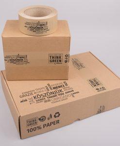 Nyomtatott papír ragasztószalag - BARNA