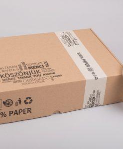 Papír ragasztószalag | köszönjük – think green – 100% paper – TÖRTFEHÉR