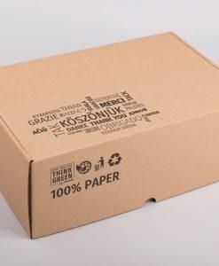 Kartondoboz nyomtatott 330x220x120 mm Think Green