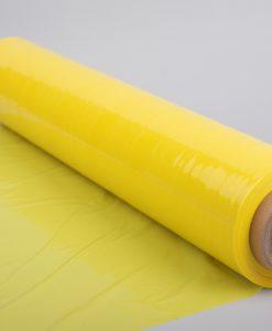 Sárga sztreccsfólia kézi csomagoláshoz 500 mm széles