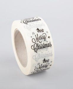 Karácsonyi papír ragasztószalag - törtfehér